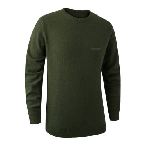 Deerhunter Brighton  Round Neck Pullover: Green